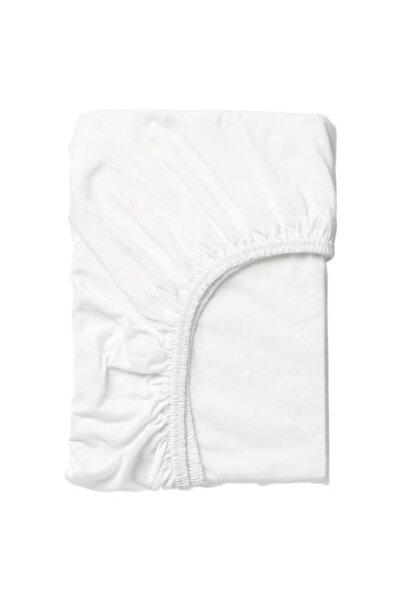 IKEA Bebek-çocuk Lastikli Çarşaf Beyaz Renk Meridyendukkan Ölçü 80x130 Cm Pamuk-natürel