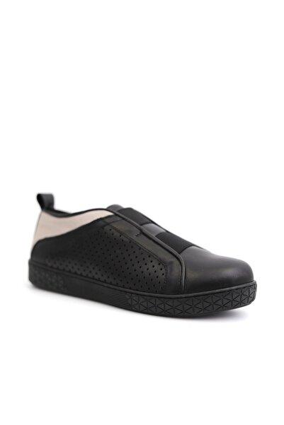 Beta Hakiki Deri Kadın Siyah Günlük Ayakkabı