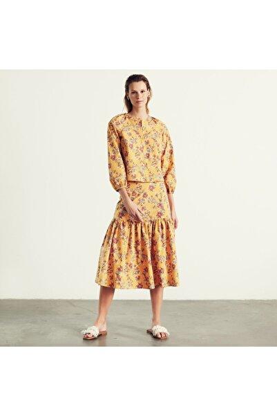 Mudo Kadın  Sarı Çiçekli Bluz