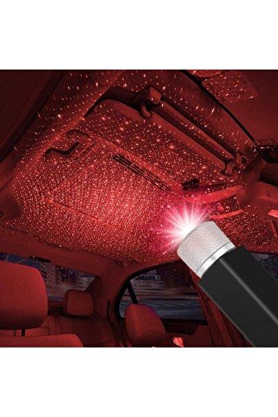 Kargolat Kırmızı Ayak Altı Tavan Led Araç Içi Aydınlatma Oto Araba Iç Disko Ayarlanır Usb Lamba Işık