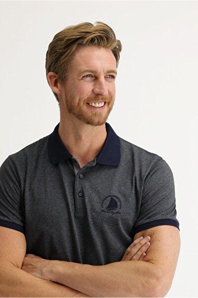 Kiğılı Polo Yaka Slim Fit Desenli Tişört