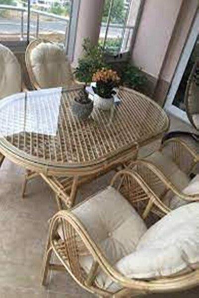 Icon Bambu, Salıncak, Palet Ve Bahçe Mobilyaları 4 Takım Minder