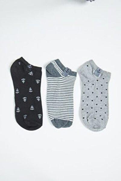 3'lü Paket Unisex Step Çorap - Mix