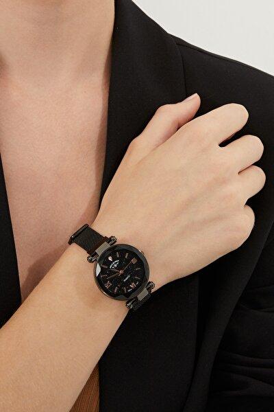 Aqua Di Polo 1987 Kadın Siyah Hasır Mıknatıslı Kol Saati Apsv1-a5434-kh333