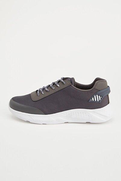 DeFacto Erkek Gri Bağcıklı Spor Ayakkabı