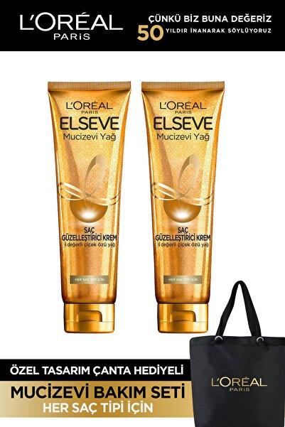 ELSEVE Mucizevi Yağ Saç Güzelleştirici Krem 150 ml - Her Saç Tipi 2'li Set