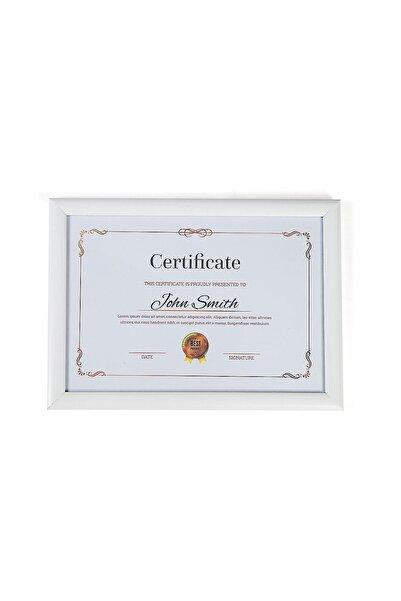 Sanat fotoğraf A4 Çerçeve Beyaz Camlı 21x30 Sertifika Diploma Belge Fotoğraf Için