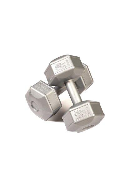 ZEUSSPOR Zeus Spor 5 Kg Dambıl 2 X 5 Kg Toplam 10 Kg Dambıl Seti Gümüş Gri (dumbell)