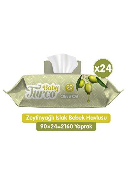 Baby Turco Zeytinyağlı Islak Bebek Havlusu 24x90 Adet