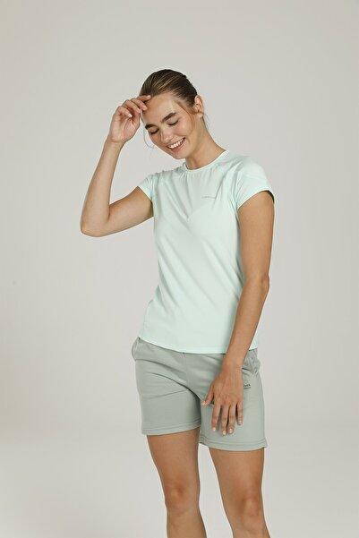 lumberjack W-18074 Cody Kk Tshırt Ba Mavi Kadın T-shirt