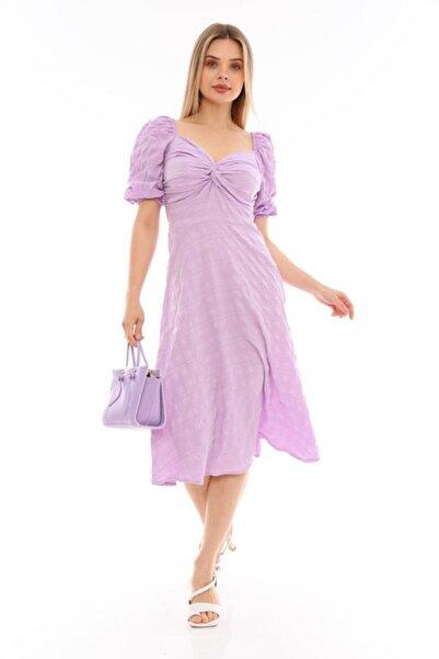 Miss Selens Göğsü Drapeli Elbise