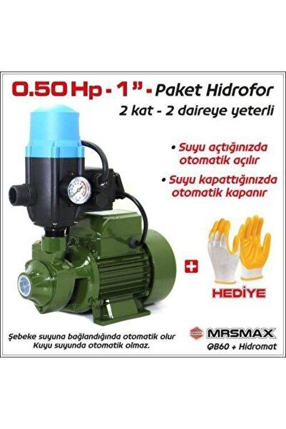 "Mur-Cell Paket Hidrofor Otomatik Su Pompası 0.5 Hp 1"" Hidrofor Set Pompa 1 Kat 1 Daire"