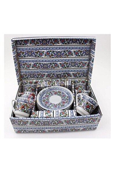 Lavin Ithal Porselen Kahve Fincanı Topkapı Model 6 Kişilik 12 Parça