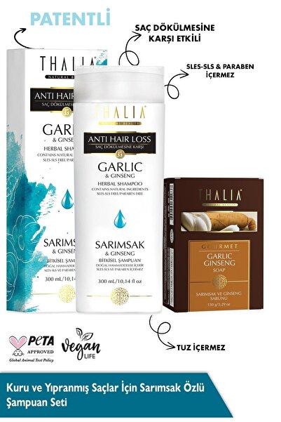 Thalia Patentli Kuru Ve Yıpranmış Saçlar Için Sarımsak Özlü Şampuan Seti