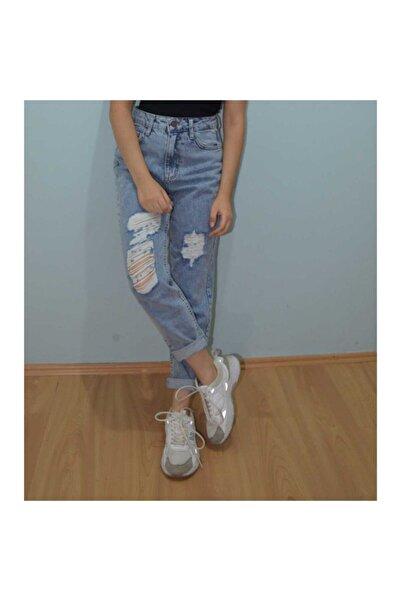 artale Yırtık Detaylı Mom Jeans