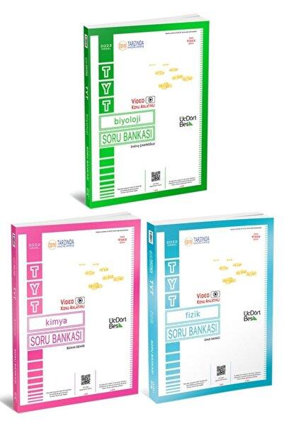 Üç Dört Beş Yayıncılık 345 Yayınları 2022 Model Video Konu Anlatımlı Sayısal Soru Seti Fizik-kimya Biyoloji 3 Kitap