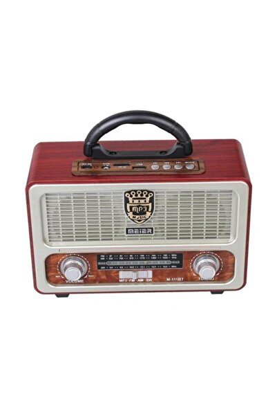 Meier M-111bt Şarjlı Nostaljik Radyo Bluetootlu-kumandalı Usb/sd/mp3