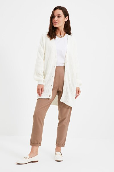 Trendyol Modest Beli Esnek Vizon Pantolon TCTAW22TP0009