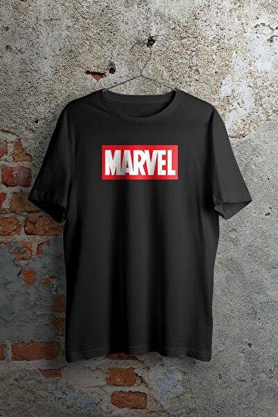 twentyone Unisex Siyah Marvel Logo T-shirt