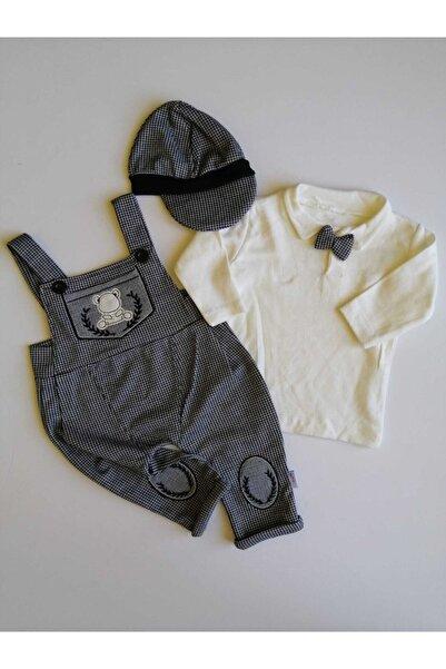 Murat Baby Erkek Bebek Şapkalı Salopet Takım