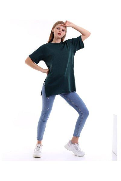 SHOPPİNG GO Kısa Kollu Yeşil Tshirt