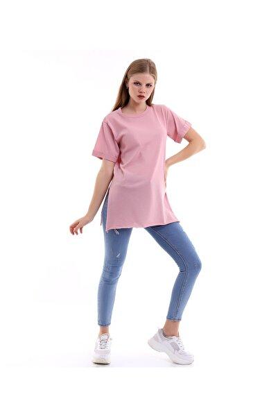 SHOPPİNG GO Kısa Kollu Pembe Tshirt