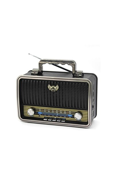 Dynego Md-1909bt Bluetootlu Nostaljik Radyo Ahşap Büyük Boy - Siyah