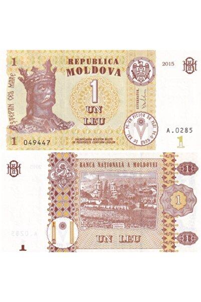 Benim Koleksiyonum Moldova, 1 Leu (2015) P#21 Çil Eski Yabancı Kağıt Para