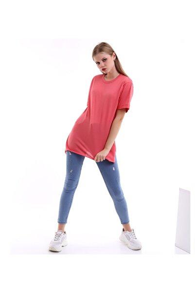 SHOPPİNG GO Kısa Kollu Fuşya Tshirt