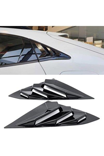 beyaztuning Honda Civic Fk7  Uyumlu Kelebek Cam Kaplama Vizörü Parlak Siyah Düz Model