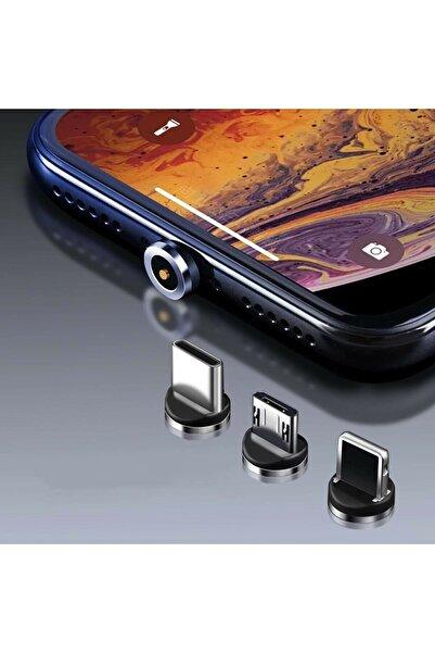MEHMET OYGUR Samsung Cep Telefonu 3in1 Mıknatıslı Hızlı Şarj Kablosu Şarz Aleti Kablosu Mıknatıslışarzkablo