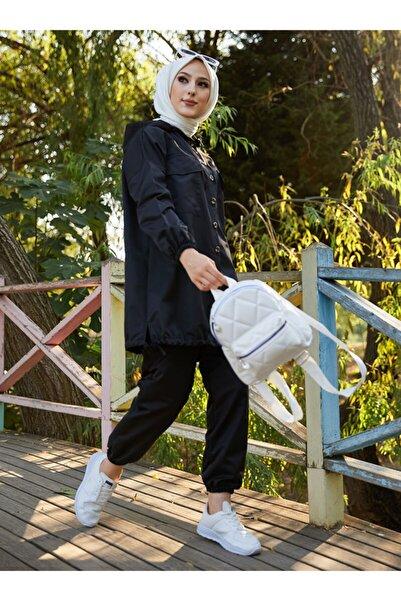 TOFİSA Tunik& Pantolon İkili Eşofman Takımı Siyah