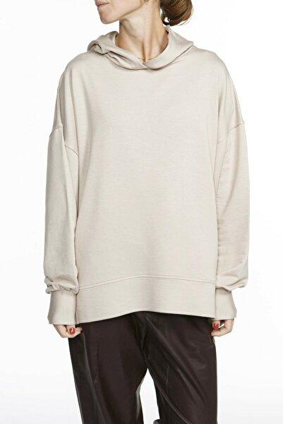 BASIC&CO Nova Kapüşonlu Oversized Bej Sweatshirt