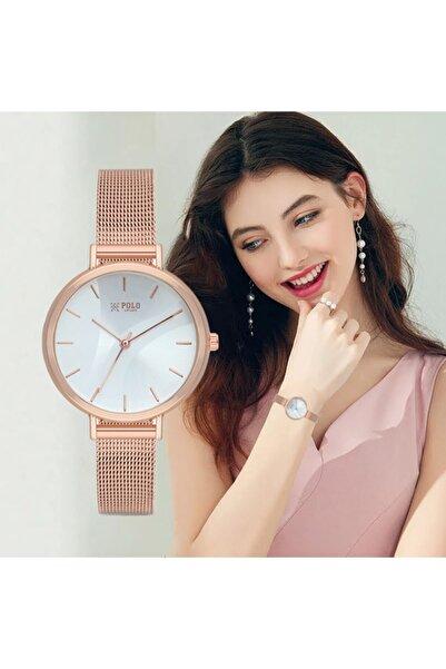 Luis Polo Kadın Kol Saati Moda Şık Trend Bayan Rose P117302