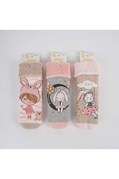 Artı Aycan 3'lü Kız Havlu Soket Çorap