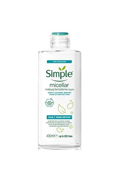 Simple Daily Skin Detox Yağlı Ciltler Için Micellar Makyaj Temizleme Suyu 400 Ml