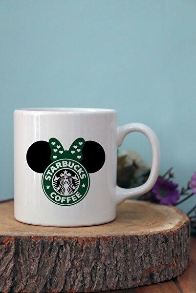 starhediyelik Starbucks Minnie Baskılı Porselen Kupa