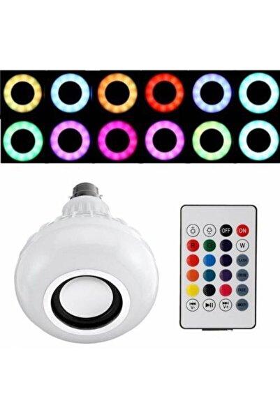 BigSale Gece Lambası Bluetooth Hoparlör Rgb Ledli Lamba Kumandalı Mp3 Çalar Ampul Renkli Ampul