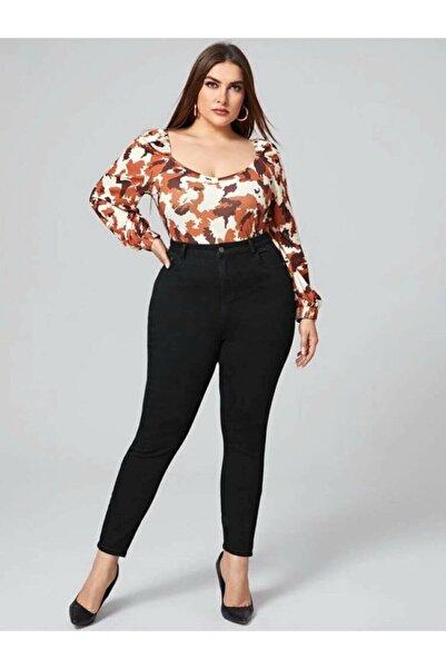 Ramrod Kadın Siyah Büyük Beden Likralı Toparlayıcı Jeans