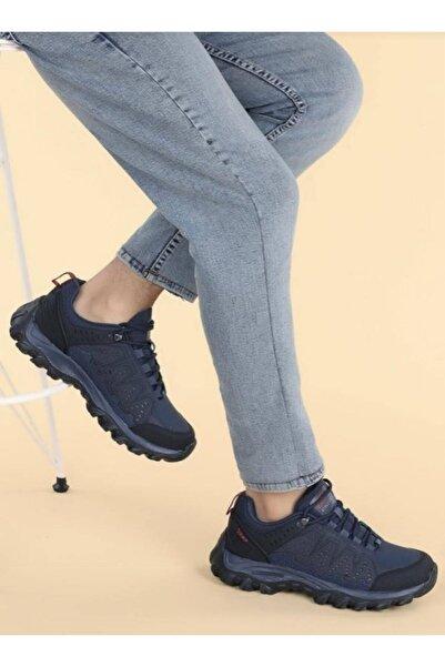 Jump Tam Ortopedik Kalın Taban Lacivert Unisex Trakking Outdoor Sneaker Ayakkabı