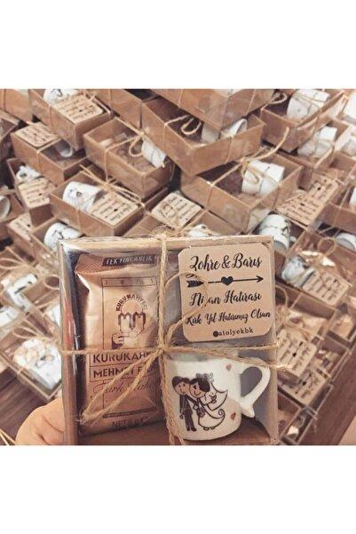 atolyekbk Kutuda Kahve Ve Fincan Nikah Şekeri Söz Nişan Nikah Düğün Hediyelik 30 Adet