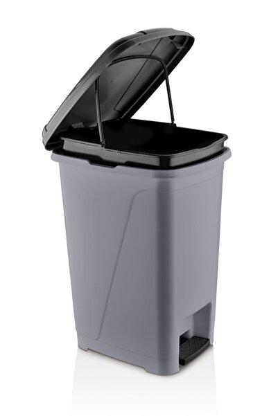 ASlife Iç Kovalı Pedallı Çöp Kovası 25 Litre Metalik