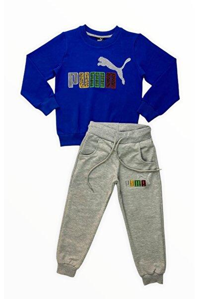 Puma Erkek Çocuk Mavi Eşofman Takımı