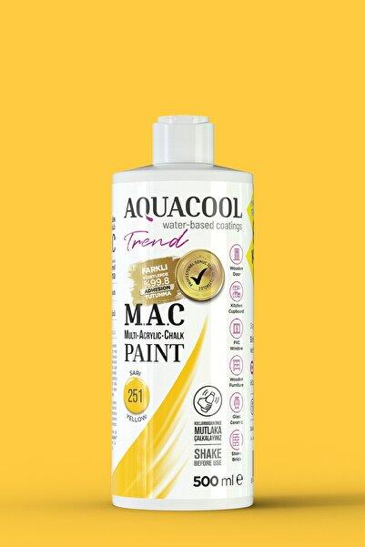 Aquacool Trend M.a.c Su Bazlı Akrilik Hobi Boyası 251 Sarı 500 Ml