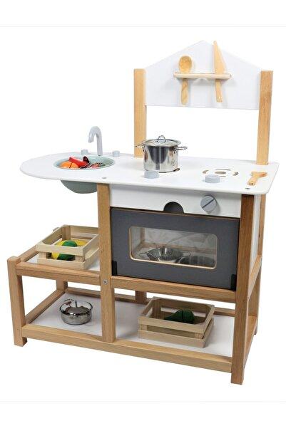 EDU DİZAYN Ahşap Eğitici Oyuncak Mutfak Montessori Gamba Mutfak Seti