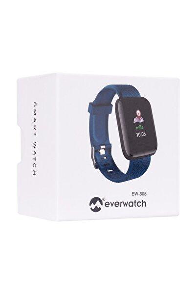 Everest Ever Watch Ew-508 Android/ıos Smart Watch Kalp Atışı Sensörlü Mavi Akıllı Saat