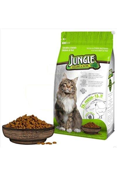 Jungle Tavuklu Balıklı Yetişkin Kedi Maması 15 Kg