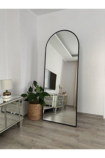 Effe Yapı Dekorasyon Siyah Metal Çerçeveli 180x70 Ayaklı Boy Aynası