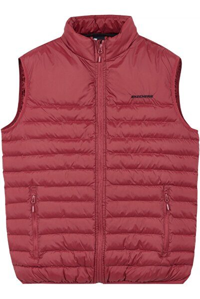 SKECHERS S202174 Outerwear M Basic Lightweight Ves Kırmızı Erkek Ceket Yelek