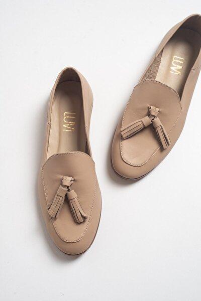 LuviShoes F04 Bisküvi Cilt Deri Ayakkabı